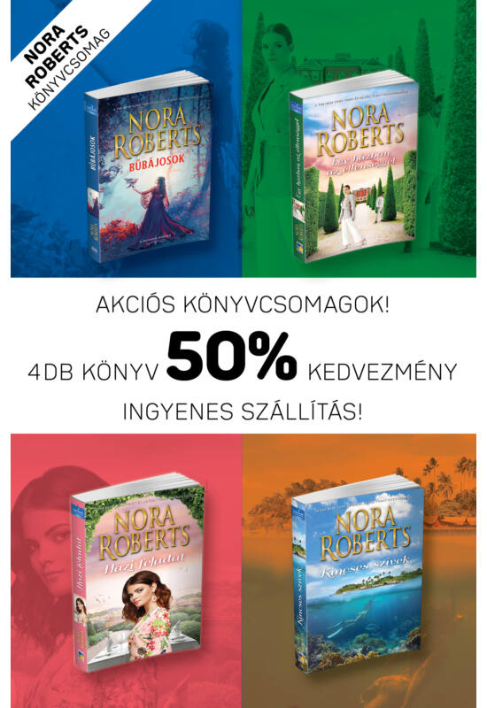Nora Roberts könyvcsomag